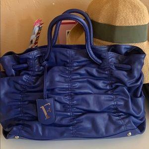 Furla large tote leather bag